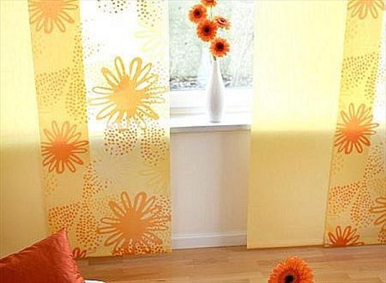 шить шторы японские