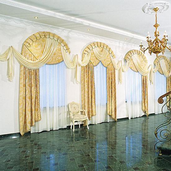 фото шторы арочные окна